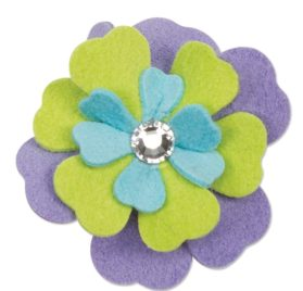 Fantasy Flower Ultrasuede Dog Hair Bow