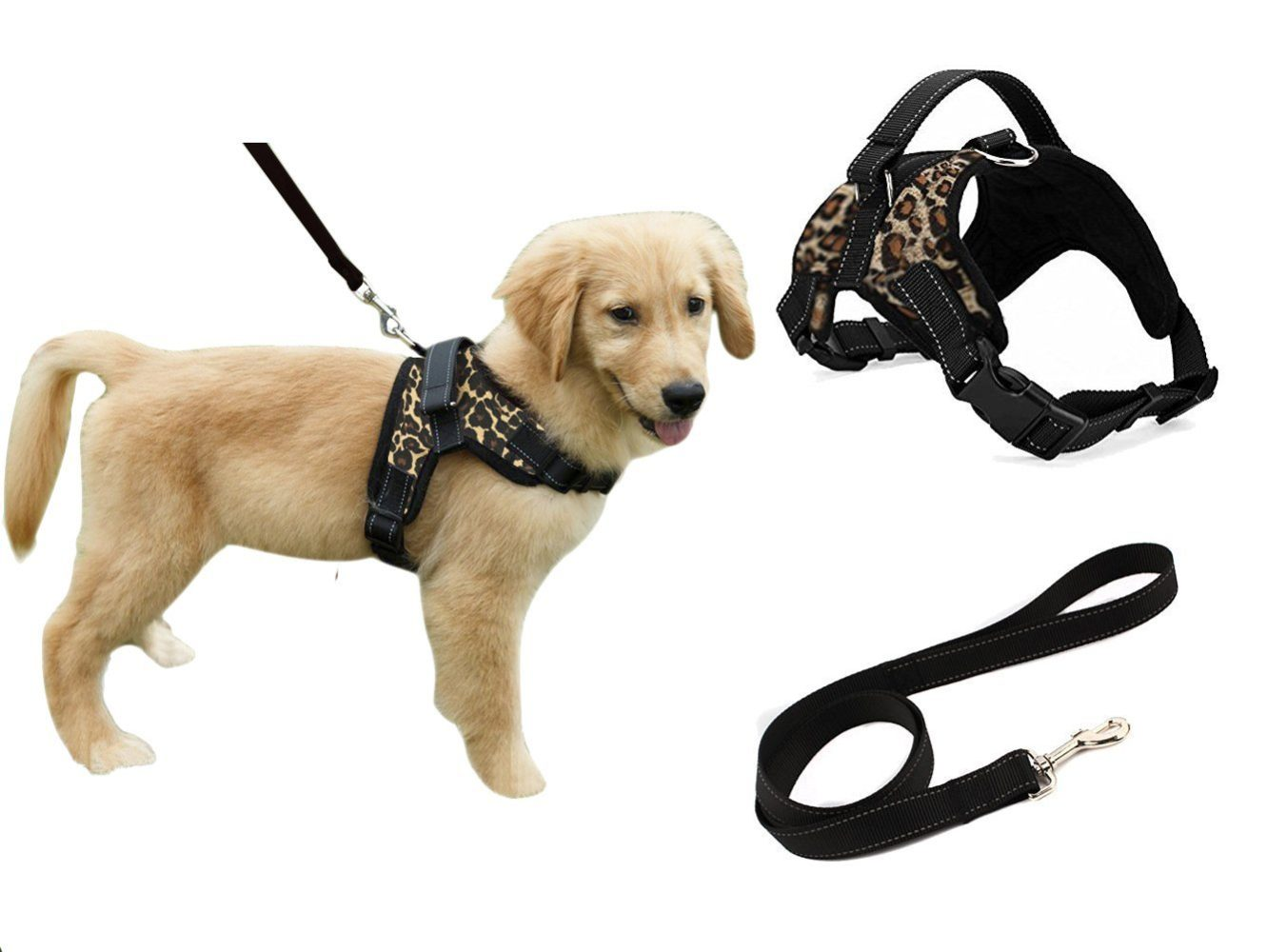 heavy duty adjustable pet puppy dog safety harness with leash. Black Bedroom Furniture Sets. Home Design Ideas