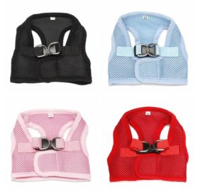 Homedeco Dog Comfort Vest Harness Leash Mesh Breathable Chihuahua Clothes No Pull Comfort Padded for Small Pet Cat and Puppy 2