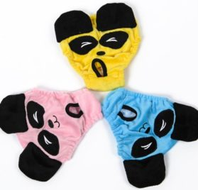 MaruPet Cotton Tighten Panda Custome Sanitary Physiological Pants Toy Detachable Pet Underwear Diapers for Girl Teddy, Pug, Chihuahua, Shih Tzu, Yorkshire Terriers, Papillon 2