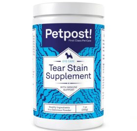 Petpost Tear Stain Remover Supplement for Dogs - Eyebright & Lutein Powder for Eye Tear Stain Treatment and Immune Support