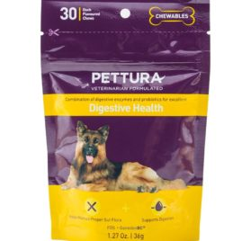 Pettura - Digestive Health, A Combination of Digestive Enzymes, Prebiotics & Probiotics, 30 Chews