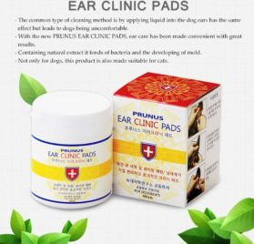 Prunus [Ear Clinic] All Natural Ear Cleansing [Anti-Bacterial] Grooming Wipes for Dogs 2