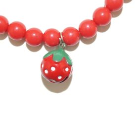 Remeel Pet Cat Dog Necklace Jewelry with Bling Pearls Strawberry Charm for Pets Cats Small Dogs Female Puppy Chihuahua Yorkie Girl Costume Outfits 2