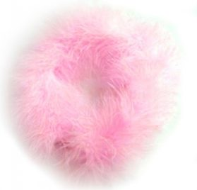 SACAS Pink Boa Dog Pet Necklace -- 3 Sizes Available