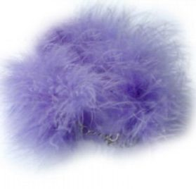 SACAS Purple Boa Dog Pet Necklace -- 3 Sizes Available