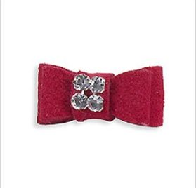 Tiny Ultrasuede Hair Bow for Dogs by Susan Lanci Designs