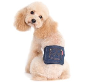 Alfie Pet by Petoga Couture - Cayden Denim Belly Band (for Boy Dogs) 2