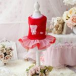 Chicpaw For Teacup Dogs Puppy Coat Chihuahua Red Bear Pet Clothes Dress 4