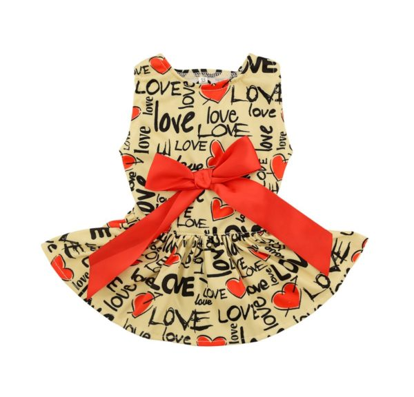 CuteBone Dog Dress Doggie Sundress Pet Clothes Dog's Princess Dresses Puppy Skirt DR03