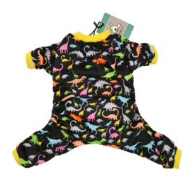 CuteBone Dog Pajamas Dinosaur Dog Apparel Dog Jumpsuit Pet Clothes Pajamas