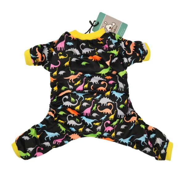 CuteBone Dog Pajamas Dinosaur Dog Apparel Dog Jumpsuit Pet Clothes Pajamas