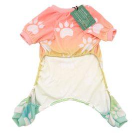 CuteBone Dog pajamas Dog Apparel Dog Jumpsuit Gradient color Pet Clothes Pajamas 2