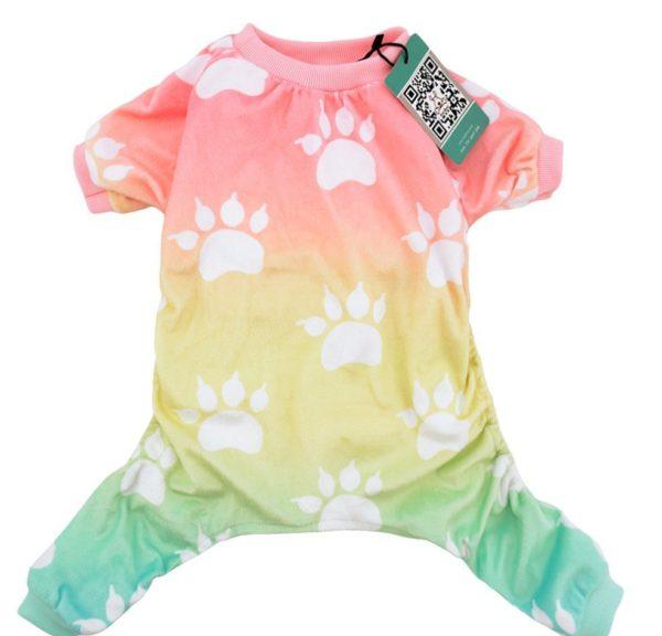 CuteBone Dog pajamas Dog Apparel Dog Jumpsuit Gradient color Pet Clothes Pajamas