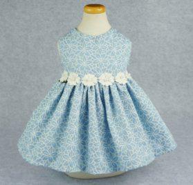 Fitwarm Elegant Floral Denim Pet Clothes for Dog Dress Sundress Vest Shirt, Blue 2