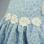 Fitwarm Elegant Floral Denim Pet Clothes for Dog Dress Sundress Vest Shirt, Blue 4