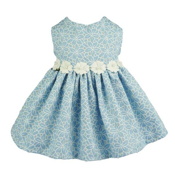 Fitwarm Elegant Floral Denim Pet Clothes for Dog Dress Sundress Vest Shirt, Blue