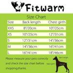 Fitwarm Elegant Floral Denim Pet Clothes for Dog Dress Sundress Vest Shirt, Blue 7