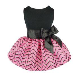Fitwarm Luxury Pink Princess Dog Dress for Pet Clothes Vest Shirts Apparel, Pink