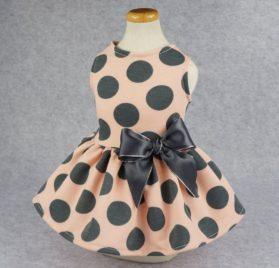 Fitwarm Vintage Pink Polka Dot Dog Dress for Pet Clothes Vest Shirts 2