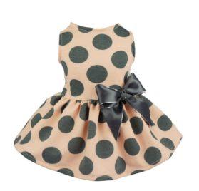 Fitwarm Vintage Pink Polka Dot Dog Dress for Pet Clothes Vest Shirts