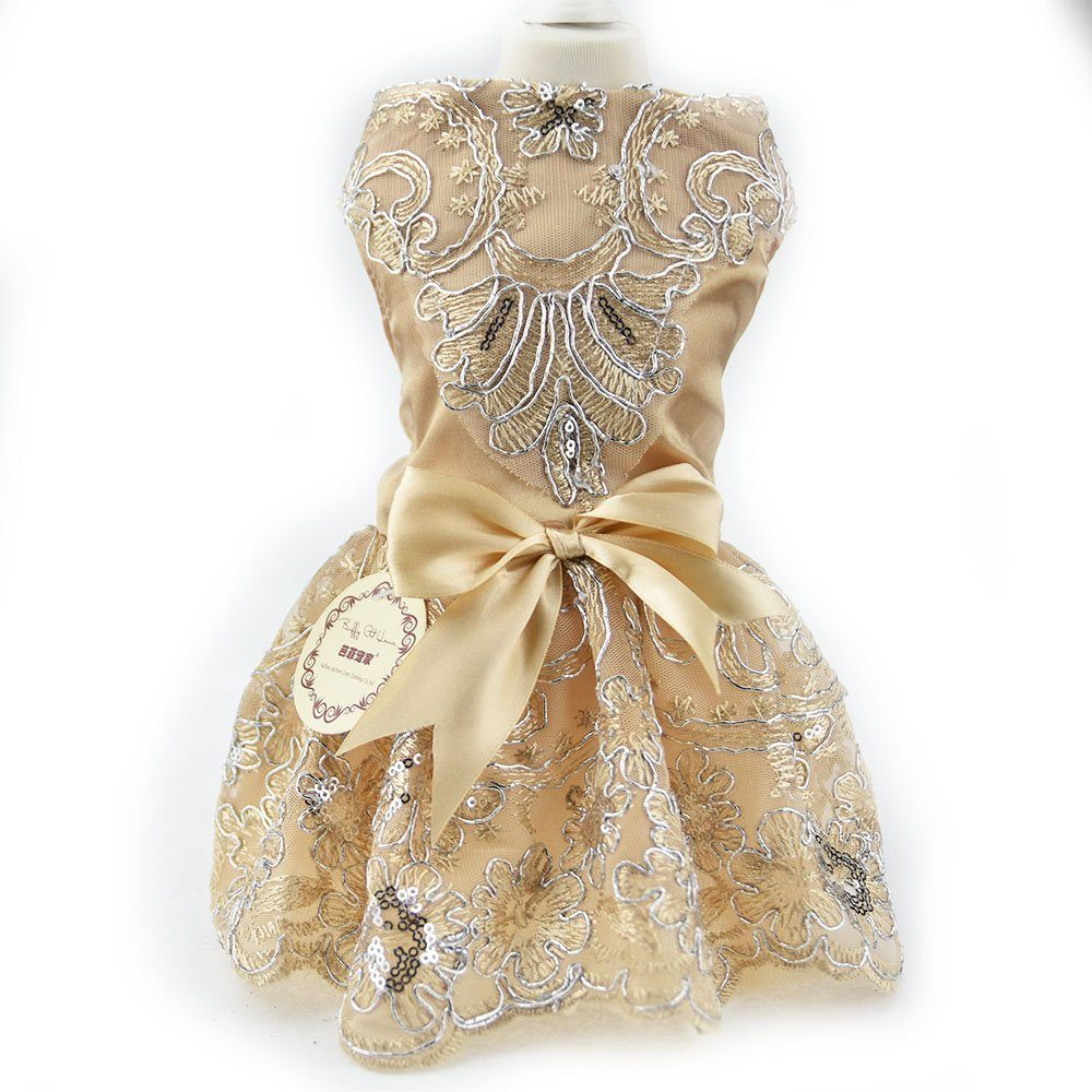 Lace embroidered dog puppy luxury bow dress pet cat dog tutu skirt lace embroidered dog puppy luxury bow dress pet cat dog tutu skirt princess wedding dress chihuahua summer dog clothes bride costume ombrellifo Choice Image