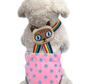 Lovely Rainbow Pet Dog Puppy Teddy Tighten Strap Reusable Diapers