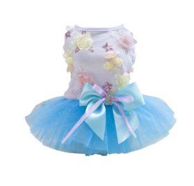 Patgoal Pet Dog Cat Clothes Summer Bowknot Lace Princess Skirt Party Tutu Dress