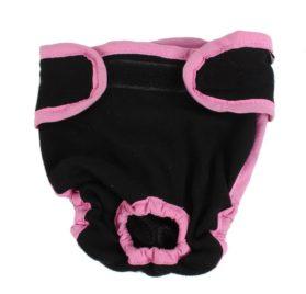 Pet Dog Chihuahua Adjustable Waist Diaper Pants Unerwear M Black Pink 2