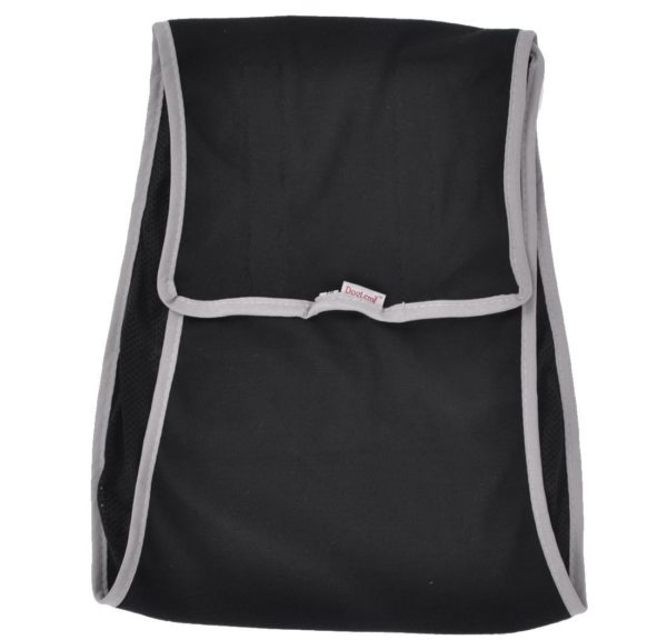 Pet Dog Hook Loop Fastener Physiological Diaper Pants Black Gray S