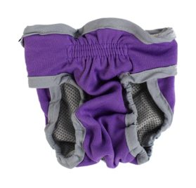 Pet Dog Waist Diaper Physiological Pants Underwear Size S Purple Gray 2