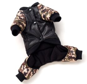 SMALLLEE_LUCKY_STORE Pet FBI Four Legs Cotton Padded Coat 2