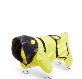 Toy Dog Bumble Bee Raincoat With Hood For Yorkie Pomeranian Chihuahua Papillon 2