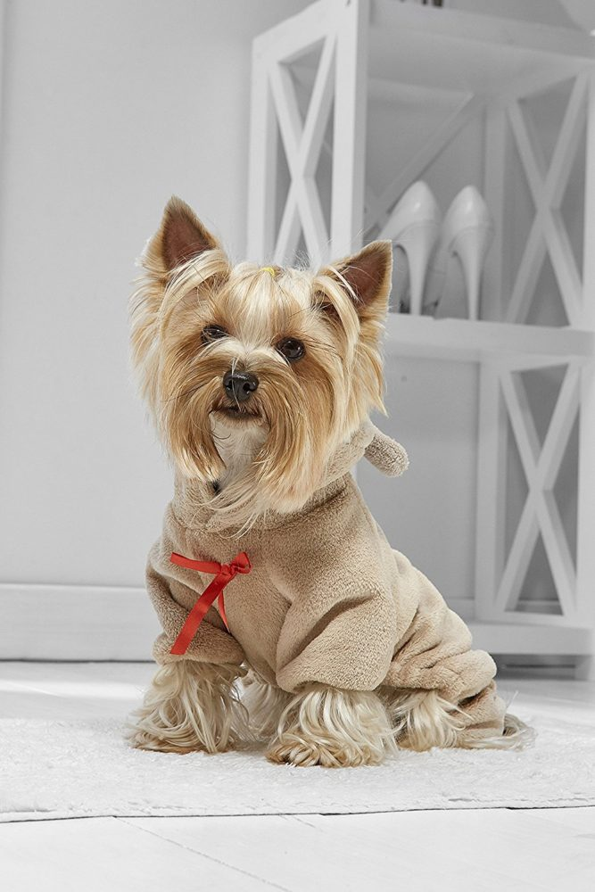 Toy Dog Teddy Bear Onesie For Yorkie Pom Chihuahua Papillon Lhasa Apso Shih Tsu