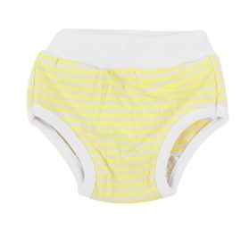 uxcell Stripes Pattern Adjustable Pet Dog Waist Diaper Pants XS White Yellow 2
