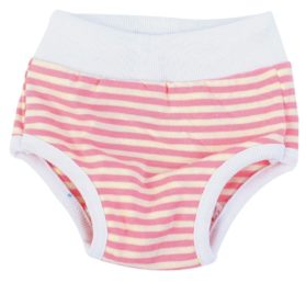 uxcell Stripes Pattern Pet Dog Drawstring Waist Diaper Pants Underwear S White Pink 2
