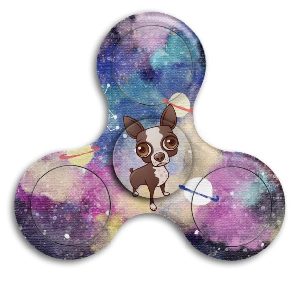 Cute Puppy Chihuahua Fidget Spinner Finger Toy Relieve ADHD High Speed Stainless Steel Stress Reducer