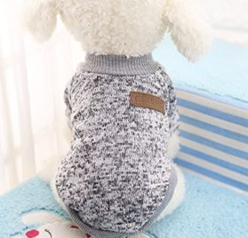 Dog Classic Sweaters, Pet Puppy Warm Clothes, Winter Soft Cat Jacket Coat Hoodies For Chihuahua Yorkie, Dogs XS