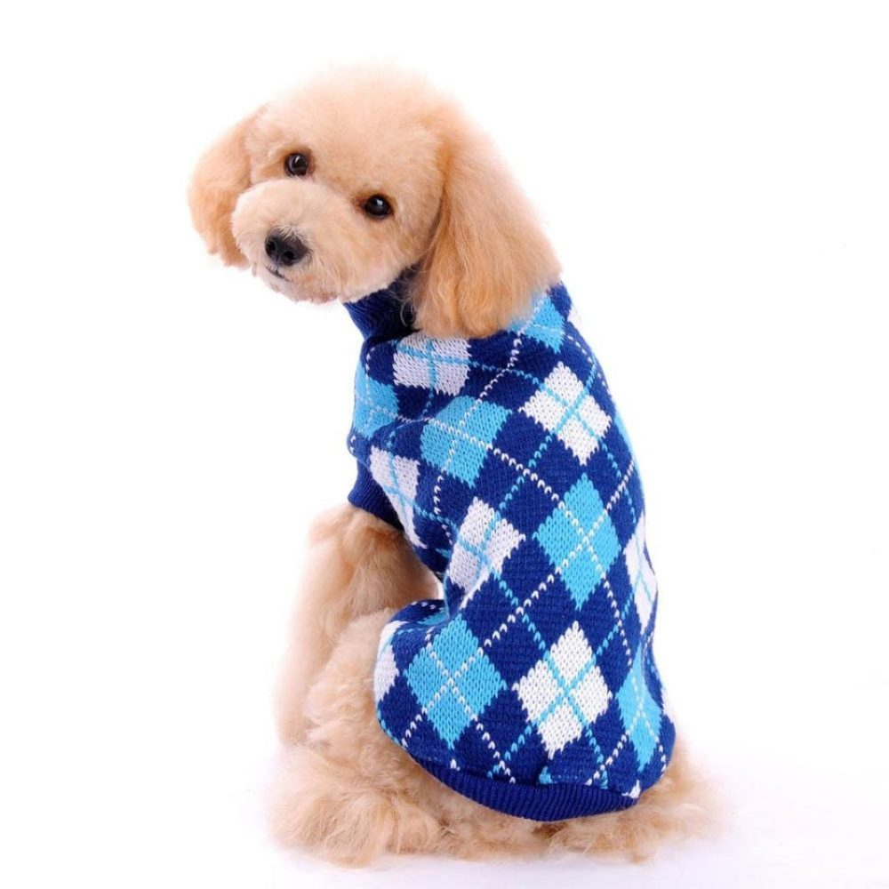 hp95 tm hot dog clothes pet winter knitted sweater