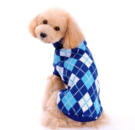 HP95(TM) Hot! Dog Clothes Pet Winter Knitted Sweater Knitwear Puppy Warm High Collar Coat and Jacket 2