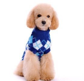 HP95(TM) Hot! Dog Clothes Pet Winter Knitted Sweater Knitwear Puppy Warm High Collar Coat and Jacket