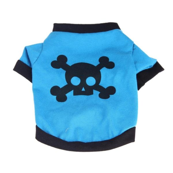 Outtop Pet Clothes [SKULL] Necktie Small Dogs Warm Coat Shirt Apparel Costume Accessory for Dog