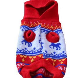 Pet Dog Sweater Hoodie Puppy Knitwear For Small Dog Clothes Red Blue 2
