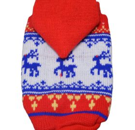 Pet Dog Sweater Hoodie Puppy Knitwear For Small Dog Clothes Red Blue