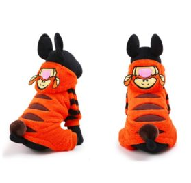 petcircle 2016 pet dog clothes for chihuahua in winter orange cute tiger dog jumpsuits dog hoodies coats size XXS-L 2