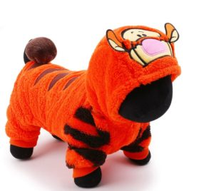 petcircle 2016 pet dog clothes for chihuahua in winter orange cute tiger dog jumpsuits dog hoodies coats size XXS-L