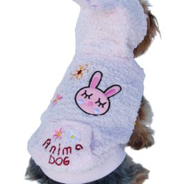 Anima Pink Fluffy Bunny Hoodie, XX-Small