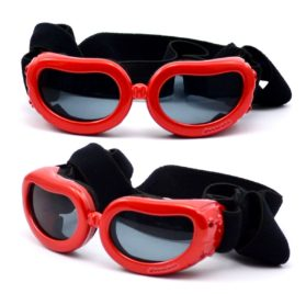 Dog Sunglasses Eye Wear UV Protection Goggles Pet Fashion Extra Small Red 2