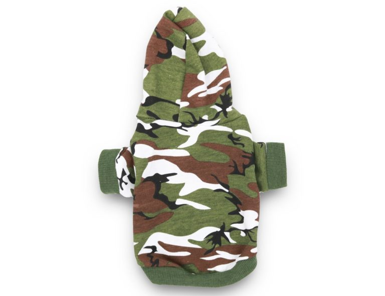 DroolingDog Dog Camo Clothes Camouflage Shirt Hoodie for Small Dogs