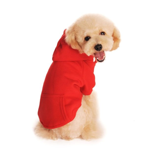 Idepet Dog Cat Hoodie Cotton Pet Coats Solid Color Clothing for Small Dogs Puppy Teddy Poodle Chihuahua